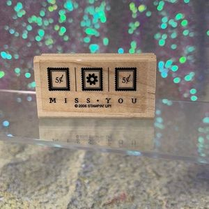 """Brand new """"miss you"""" stampin up stamp"""